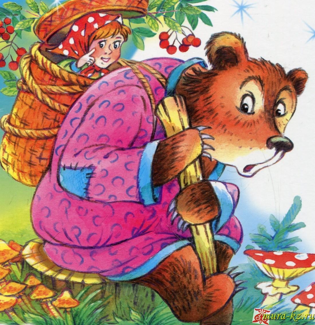 Маша мен Аю – Маша и Медведь (русские сказки на казахском языке)