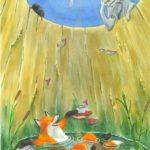 Түлкі мен ешкі — Лиса и козёл