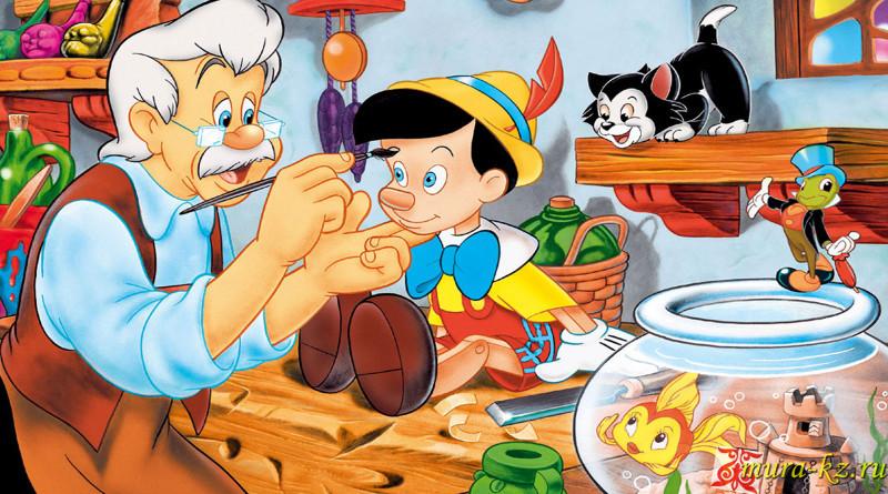 Пиноккио (Итальянская сказка на казахском языке)