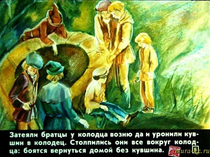 Жеті қарға - Семь воронов - cказки Братьев Гримм