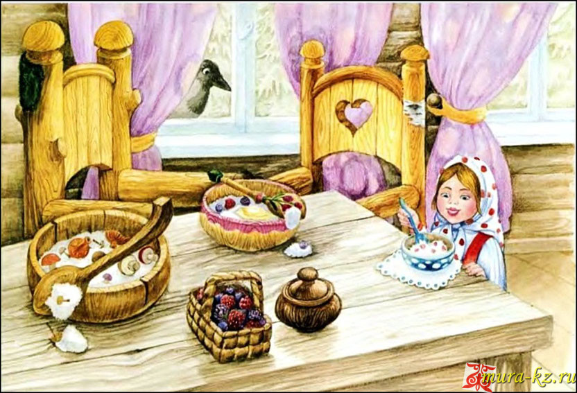 Үш аю - Три медведя - сказка на казахском языке